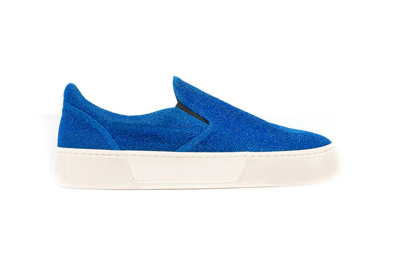 Balenciaga Slip On Lurex Blue Green