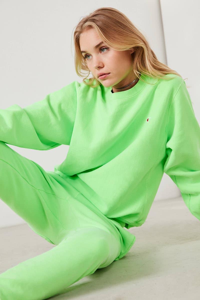 Champion Pigment Dye Pullover Sweatshirt Neon Pink