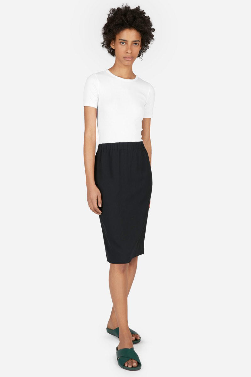 Everlane Micro Rib Tee Dress Tank Top Cami Minimalist Basic