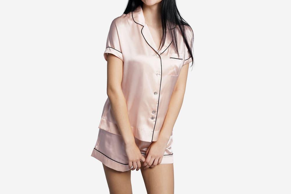 Editors Pick GRANA short sleeve Silk Pyjama Shirt hong kong