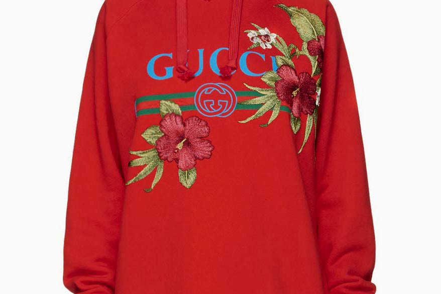 ef48bc068e9 Gucci Drops a Red Floral Logo Hoodie