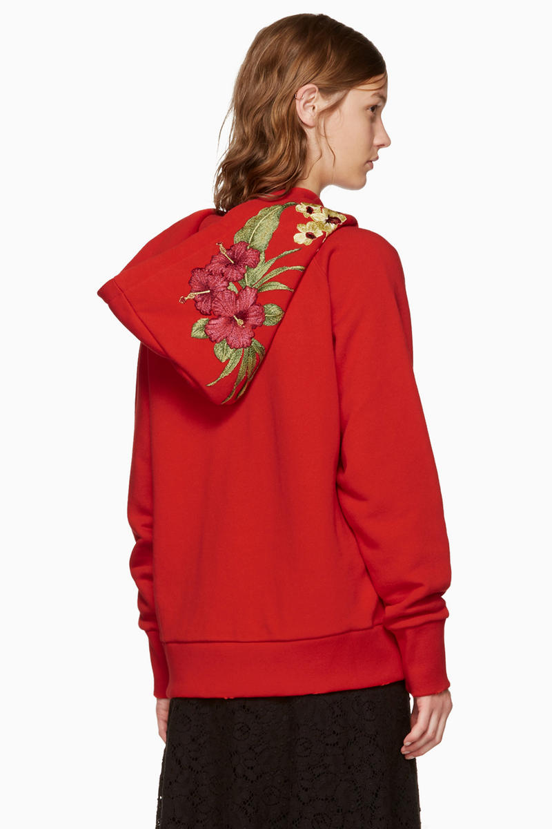 Gucci Floral Logo Hoodie Red