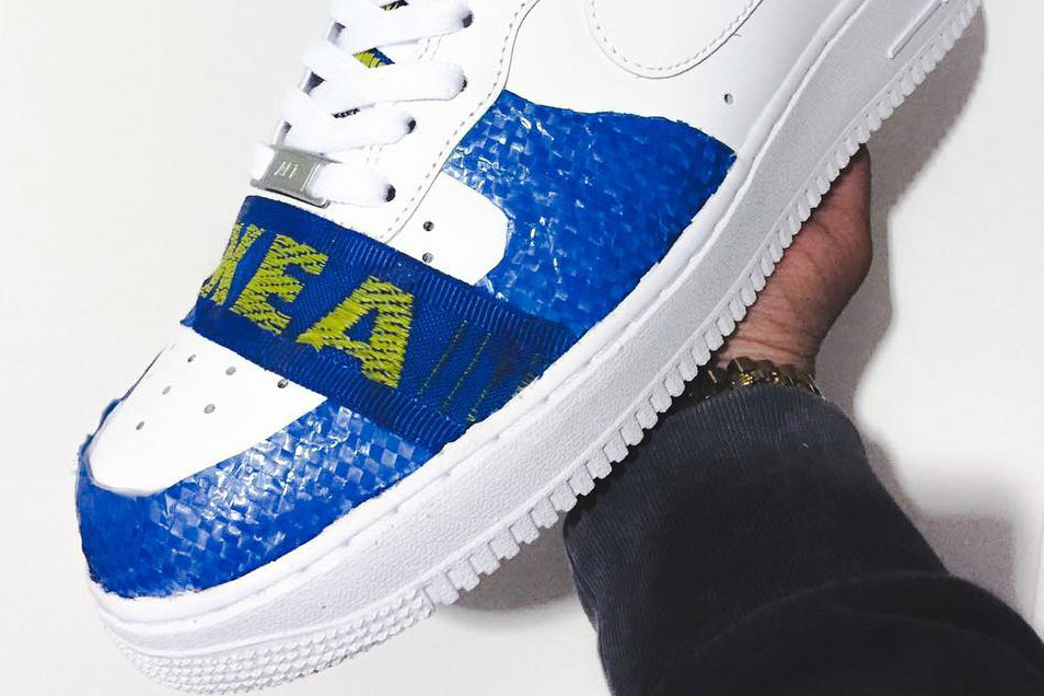 Adelaida batalla Clip mariposa  IKEA Bag Inspired Nike Air Force 1 Custom | HYPEBAE