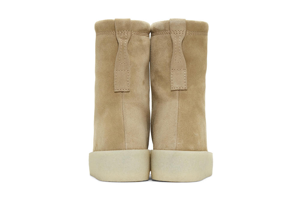 YEEZY Season 4 Suede Crepe Boots Taupe Black Kanye West SSENSE