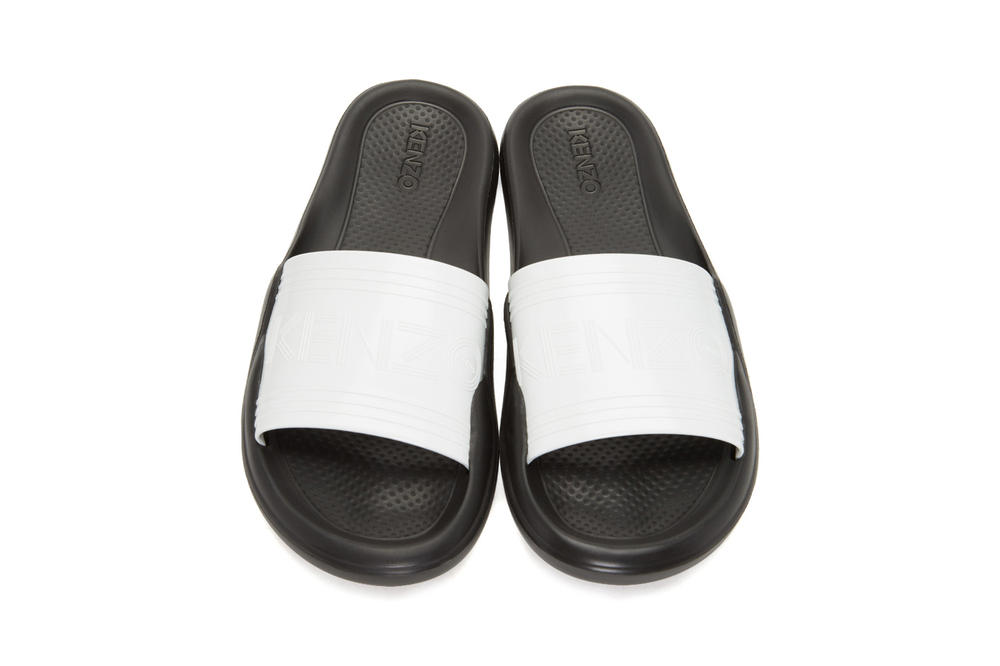 KENZO Beach Slide Sandals Pink White