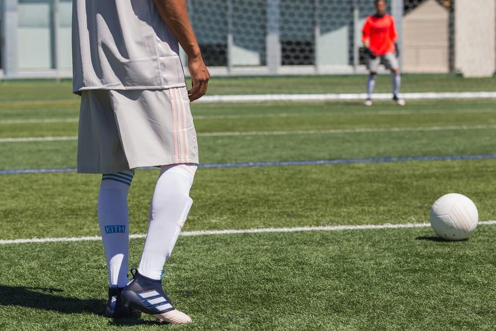kith adidas soccer sportswear ronnie fieg florencia galarza miami flamingos pastel pink