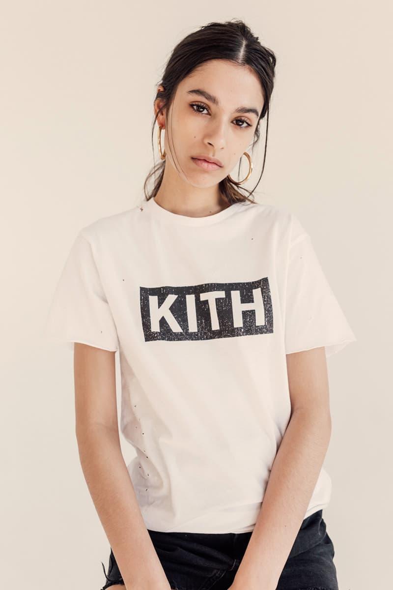 KITH Women Distressed Logo Tee Program