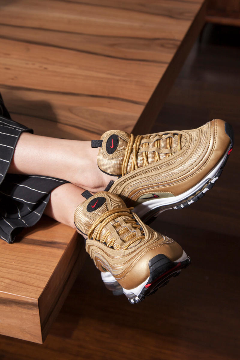 Nike Air Max 97 Metallic Gold Jewelry Editorial NSS Magazine