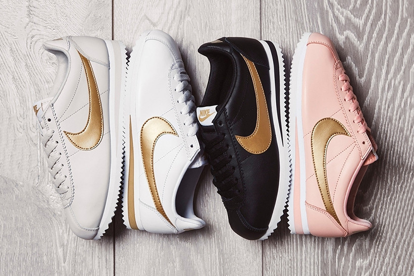 "The Nike Cortez ""Glitter"" Pack Shines Bright with a Golden Swoosh"