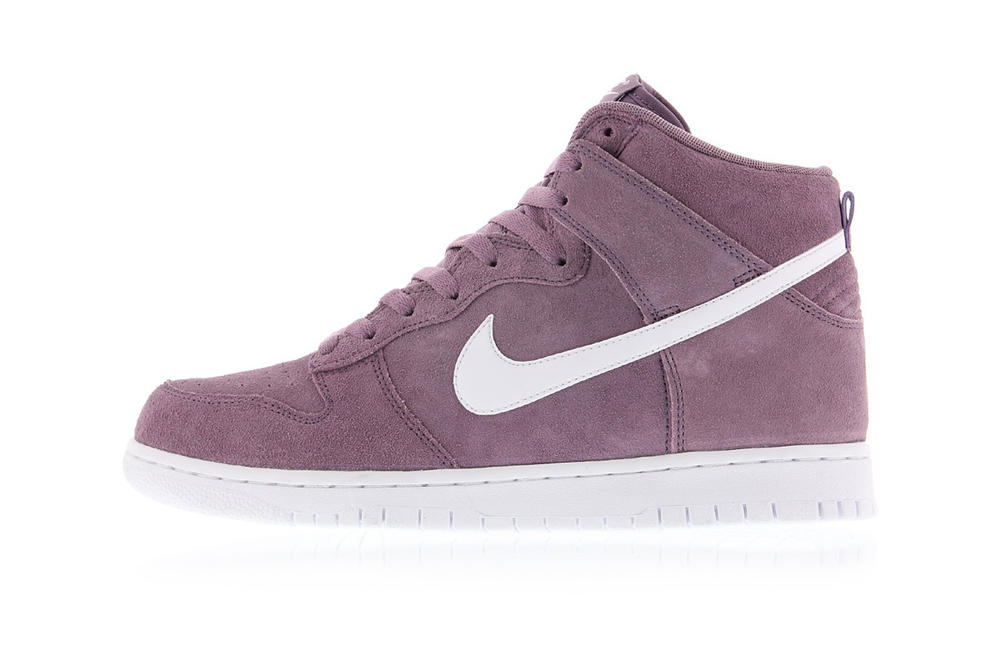 nike dunk high sneakers violet dust