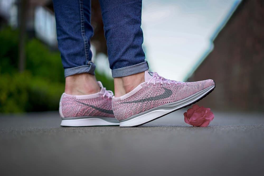 Nike Flyknit Racer Macaron Pack On Feet