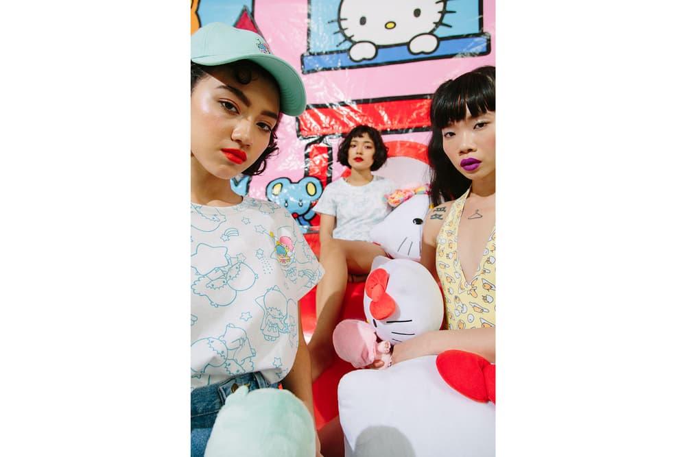 4ea1a668f Nylon Sanrio Hello Kitty Gudetama Little Twin Stars Collaboration Apparel  Collection