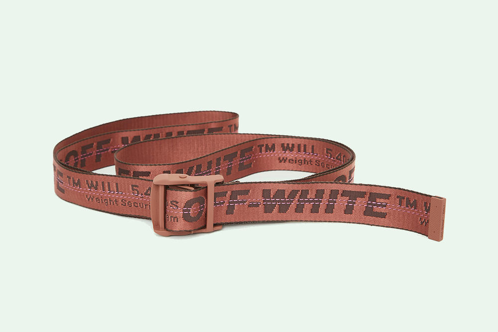 OFF-WHITE Industrial Belt Virgil Abloh New Colorway Blue Green White