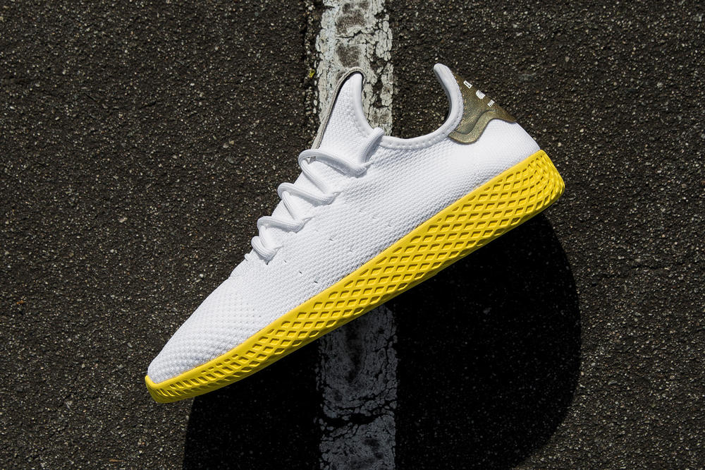 Pharrell Williams adidas Originals Hu Tennis Yellow Gold