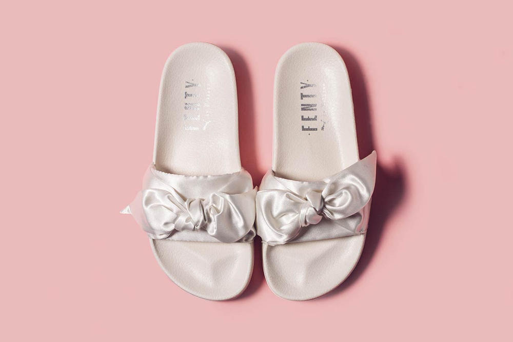 Rihanna Fenty PUMA White Bow Slide