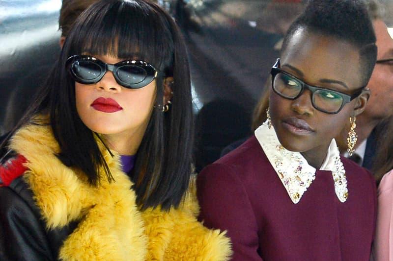 Rihanna Lupita Nyong'o Miu Miu 2014 Fashion Show