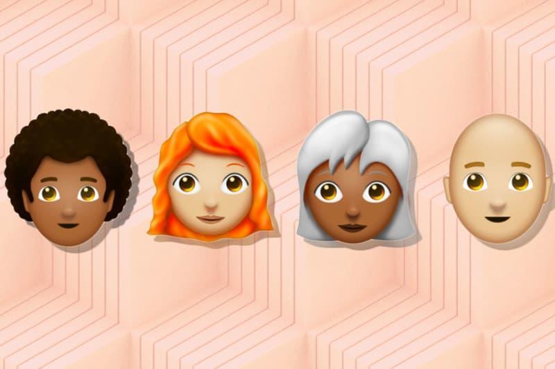 Emoji Hair Redhead Bald Grey Curly