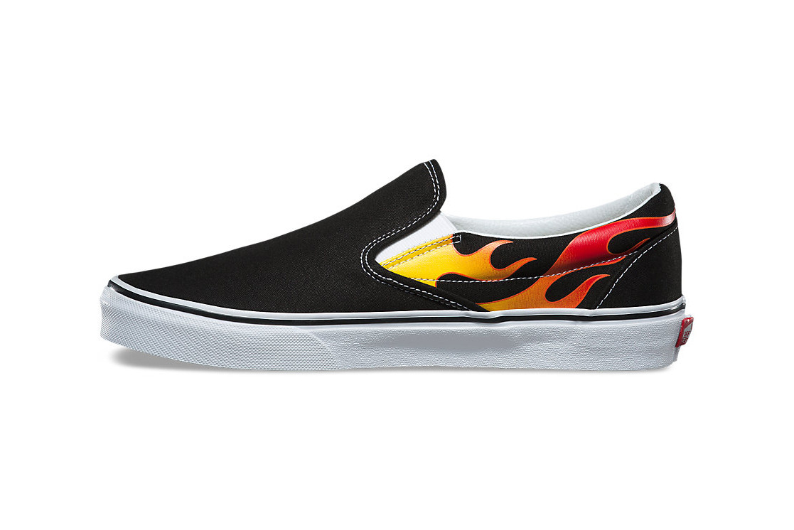 Vans Stocks Fire Flames Slip-On | HYPEBAE