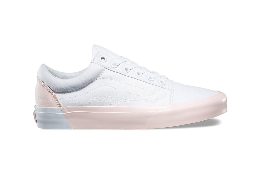 Vans Old Skool Blocked Embossed Sidewall Pink White