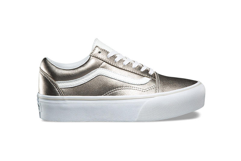 4ac0b9af2301ff Vans Old Skool Platform Metallic Silver Gray Gold