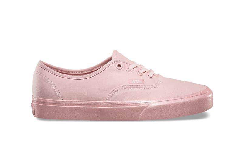 Vans Sk8-Hi Slim Authentic Metallic Glitter Pastel Pink Sole