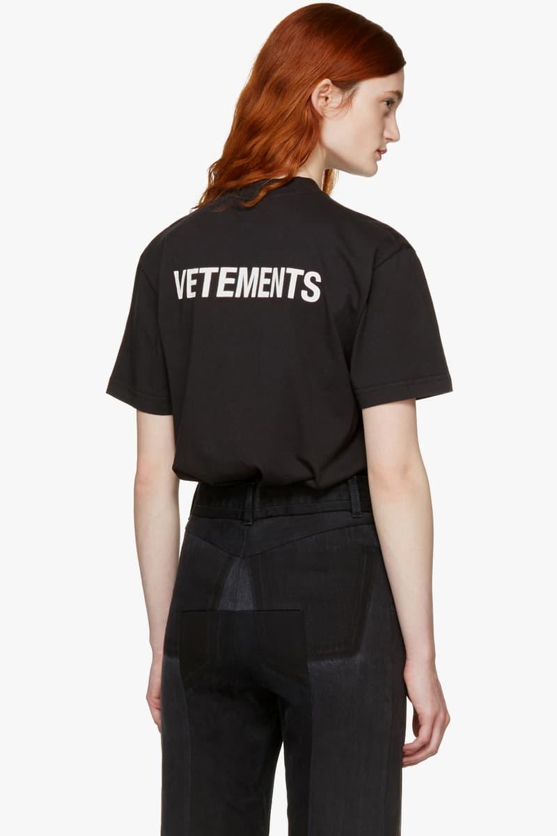 Vetements Basic Staff T Shirt