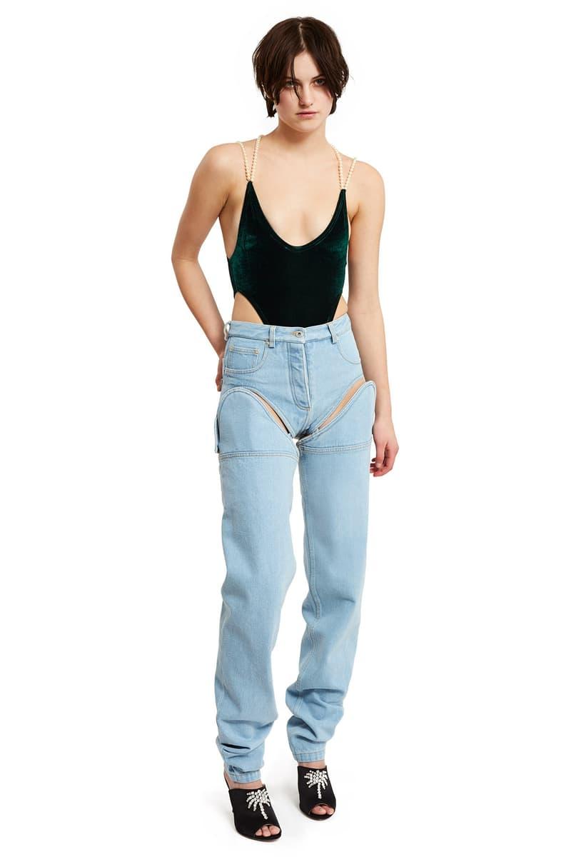 Y/Project Detachable Cut Out Front Jeans Shorts