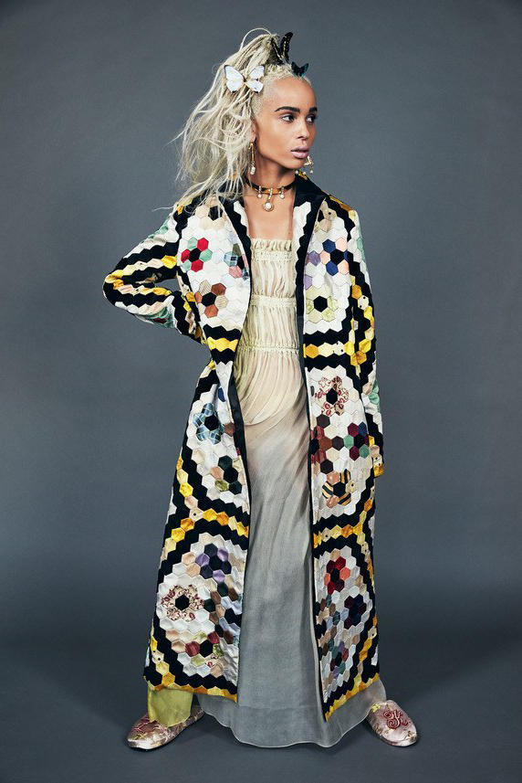 Zoë Kravitz Allure 2017 June Cover Twiggy Beauty Video