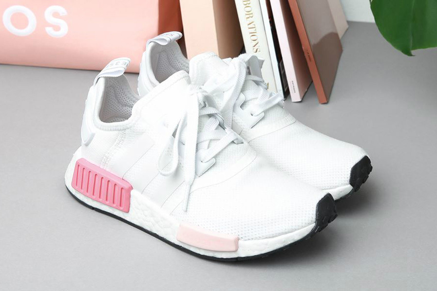 2141004e9 adidas NMD R1 White Rose Just Restocked