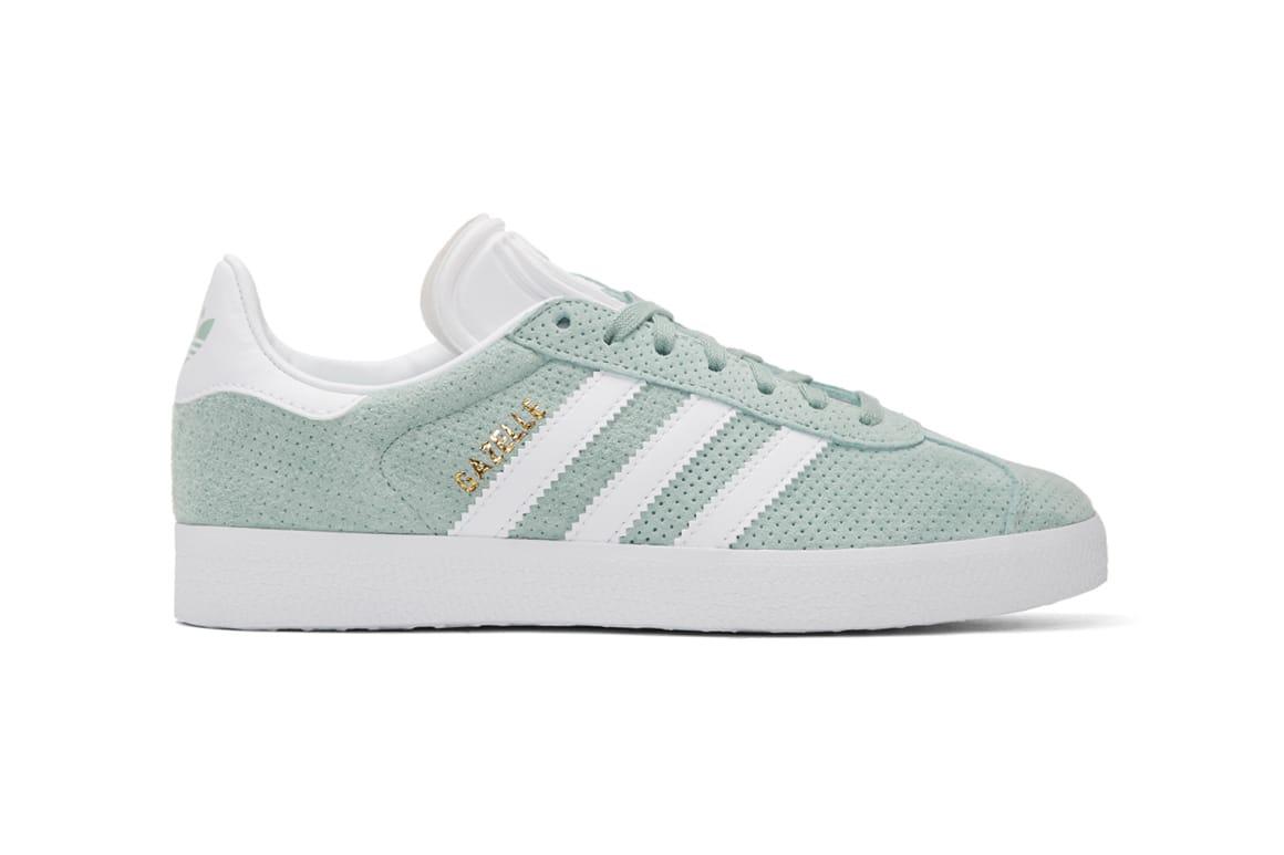 adidas gazelle mint green womens