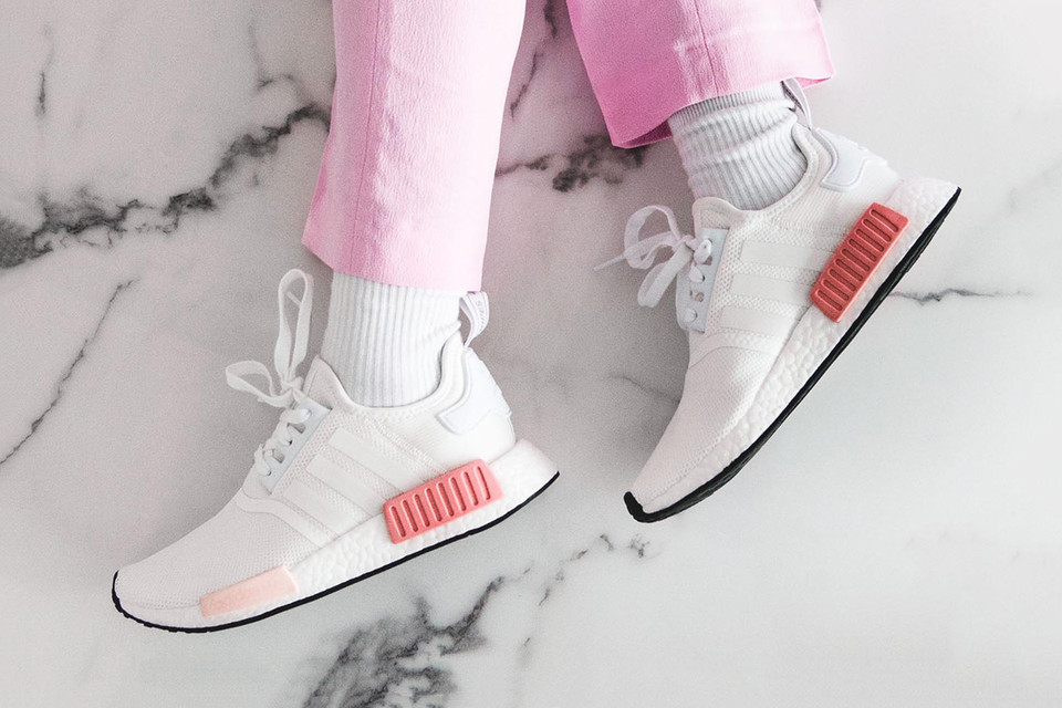 Shop Adidas Originals Nmd R1 White Rose At Hbx Hypebae
