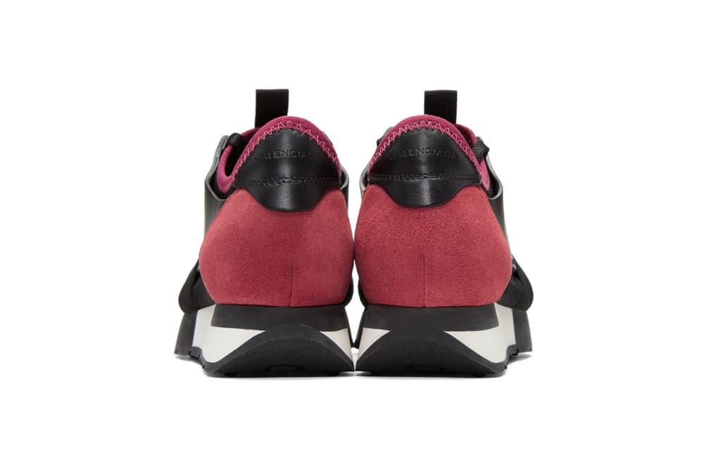 Balenciaga Black Pink Panelled Sneaker Demna Gvasalia Fuchsia