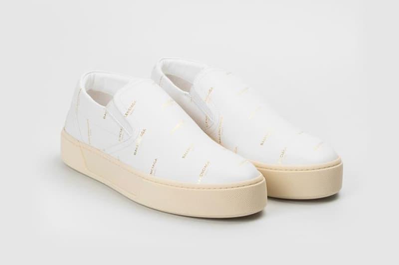 Balenciaga Slip-ons Black White
