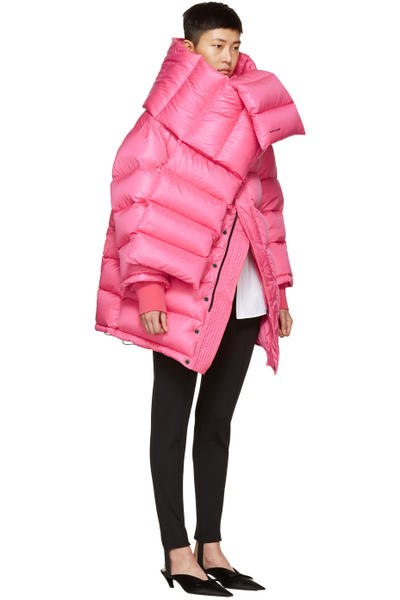 Balenciaga Over the Knee Boots Pink Velvet