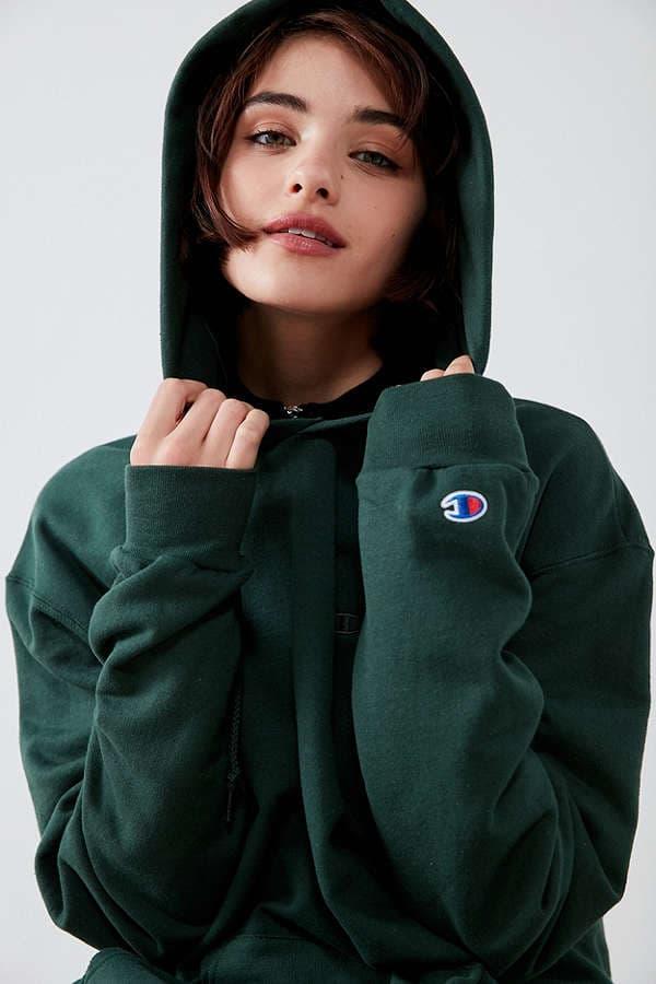 6b068ec7f908 Champion Urban Outfitters Mini Logo Hoodie Blue Green Burgundy Grey