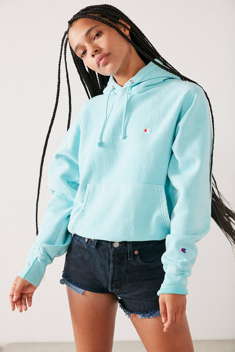 Champion Urban Outfitters Turquoise Blue Hoodie