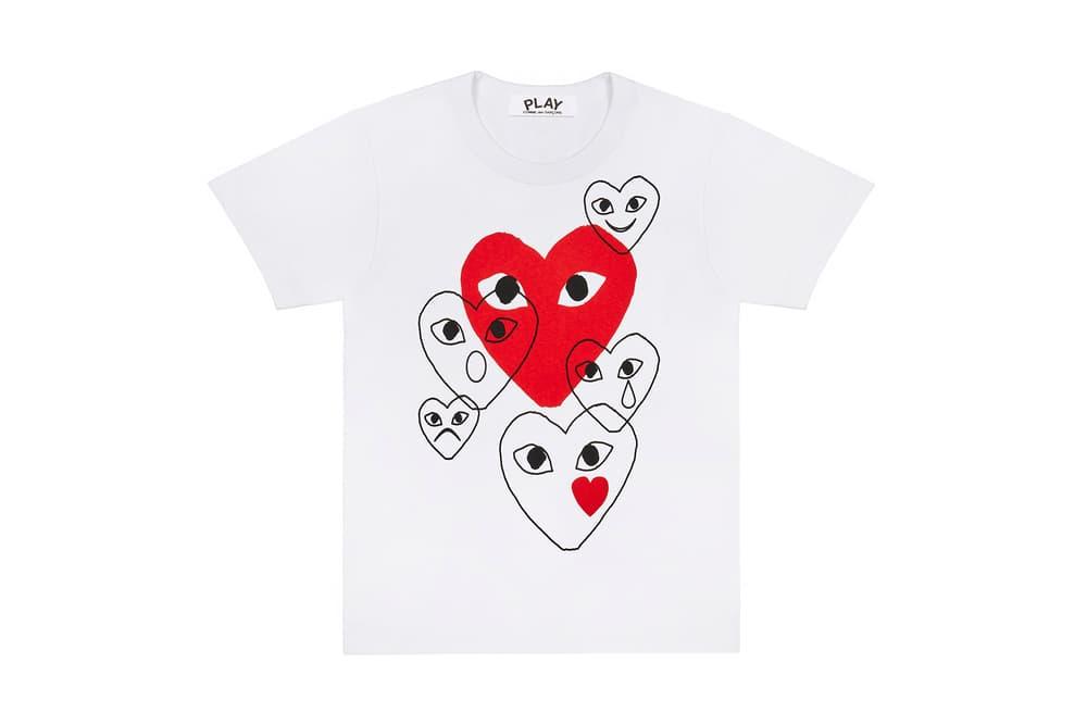 COMME Des GARÇONS PLAY Emoji T-Shirts