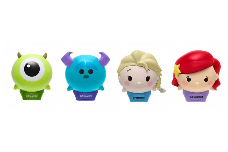 Disney Lip Smacker Tsum Tsum Lip Balms Monsters Inc Mike Sulley Ariel Frozen Elsa