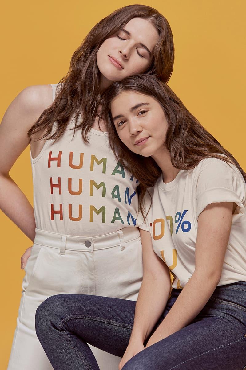 Everlane 100 Percent Human Pride Collection Hari Nef Rowan Blanchard