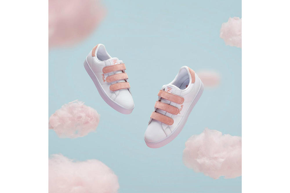 FILA Court Deluxe Cotton Candy Pink Blue