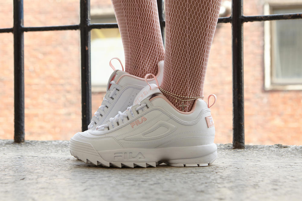 """f96a28b4b89a Featuring an exclusive colorway in """"Pink Flamingo."""" FILA ..."""