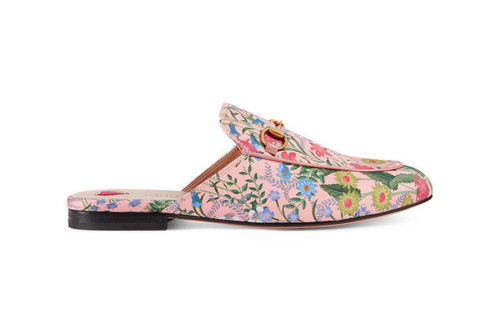 36f70b5e4b68f Gucci s Floral Pink Slippers Are Fancy Footwork