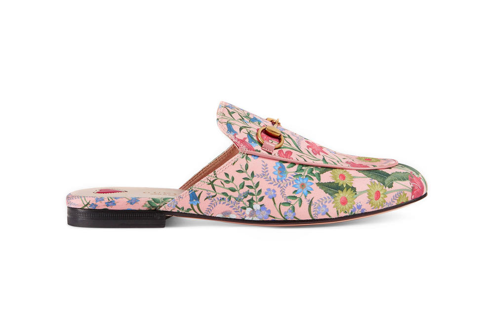 Gucci Princetown New Flora Slipper Pink