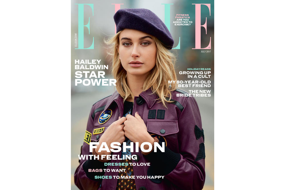 Hailey Baldwin ELLE UK 2017 July Cover