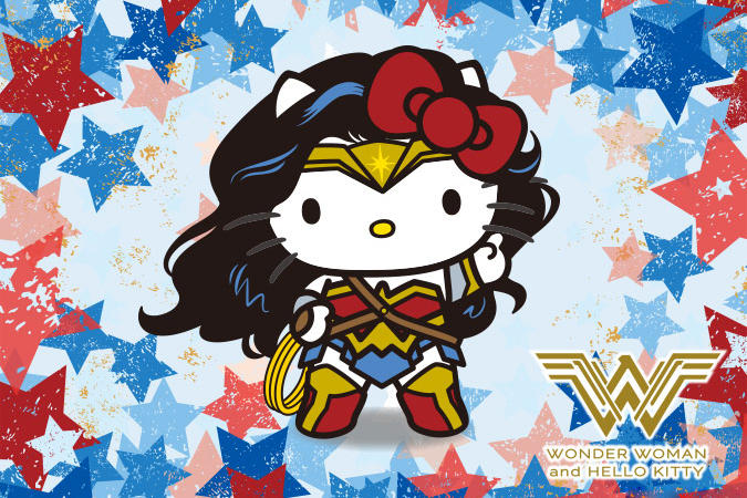 wonder woman gal gadot hello kitty sanrio japan exclusive movie dc comics