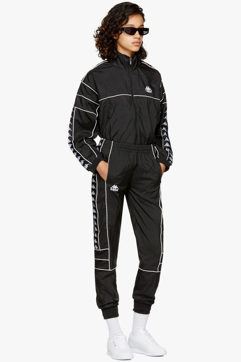 Kappa Windbreaker Jacket Track Pants SSENSE Exclusive White Black