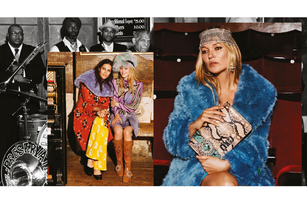 Miu Miu 2017 fall winter campaign adwoa aboah kate moss naomie harris