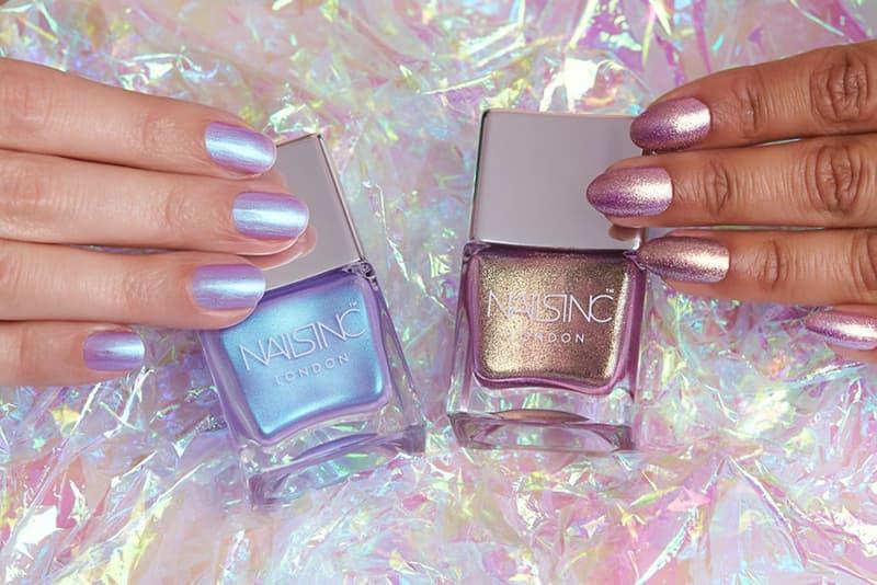 Nails inc Sparkle Like a Unicorn Nail Polish Duo Holographic