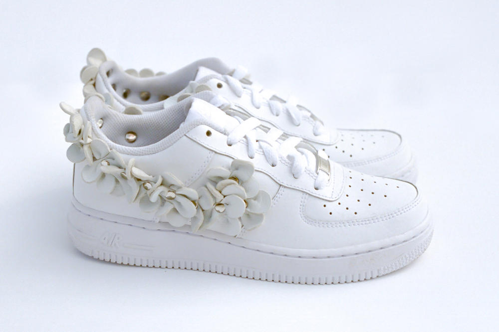 Nike Air Force 1 Low White Flower Custom