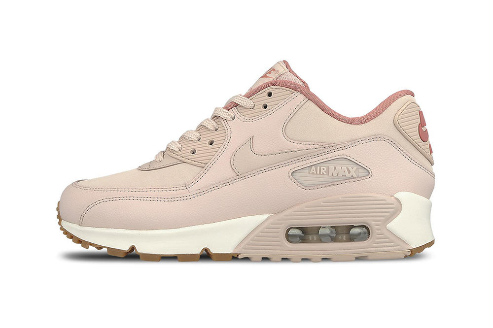 91254466f5 Nike Air Max 90 Leather Silt Red Red Stardust Pastel Pink